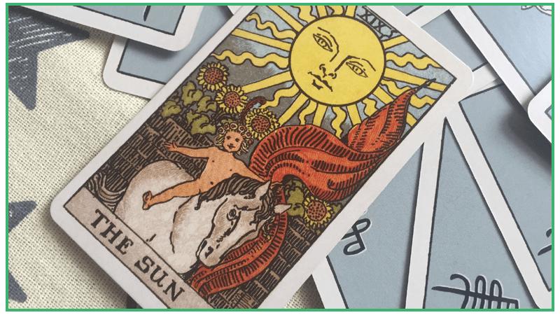 「太陽」のタロットカード